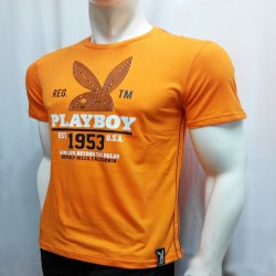 PLAYBOY, TSHIRT 623, ORANGE, 18706233 image here