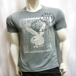 PLAYBOY, TSHIRT 720, GREY, 18707201 image here