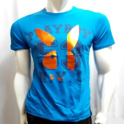 PLAYBOY, TSHIRT FB, BLUE, 17805993 image here