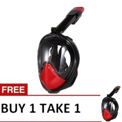 Thenice, M2098G Full-Face Snorkeling Ninja Mask with Camera Holder SM, Black, Thenice M2098G Red Black Size:SM B1T1 image here