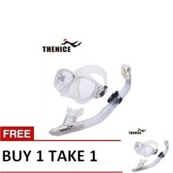 Thenice Diving Snorkeling Set Mask and Breathing Tube (Elegant White Suit) Buy 1 Take 1 image here