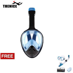 Thenice, Fullface Mask M2098g Blue with free snorkeling set, Blue, Thenice M2098g Blue with free snorkelingset Blue image here