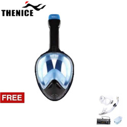 Thenice, Fullface Mask M2098g, Blue, with free snorkeling set ,White,Thenice M2098g Blue with free snorkelingset White image here