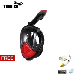 Thenice, Fullface Mask M2098g ,Red, with free snorkeling set ,Gold, Thenice M2098g Red with free snorkelingset Gold image here
