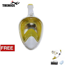 Thenice, Fullface Mask M2098g ,Yellow, with free snorkeling set ,Gold,Thenice M2098g Yellow with free snorkelingset Gold image here