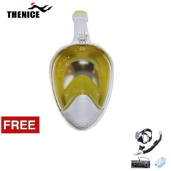 Thenice Fullface Mask M2098g Yellow L/XL with free snorkeling set Black Thenice M2098g Yellow L/XL with free snorkeling Black image here