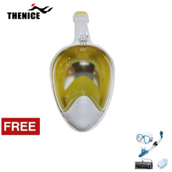 Thenice Fullface Mask M2098g Yellow L/XL with free snorkeling set Blue Thenice M2098g Yellow L/XL with free snorkelingset Blue image here