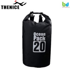 Thenice Ocean Pack Portable&Outdoor Waterproof Dry Bag 20L Black image here