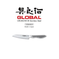 Global GS - 57 New Santoku - Fluted 11cm  110005700 image here