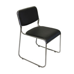 IGO Home Furniture, Macario visitor chair, black, S078LFB image here