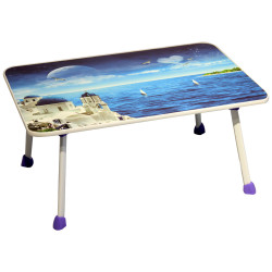 IGO Home Furniture, Noelle Foldable laptop Table, Blue  PFT-58 image here