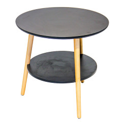 IGO Home Furniture, COSETTE Center Table, black, S1-C-2-B-60 image here