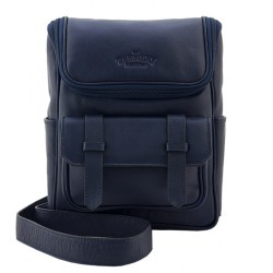 THE TANNERY MNL,ANDREW, NAVY BLUE MILLED, BLUE, 261804 image here
