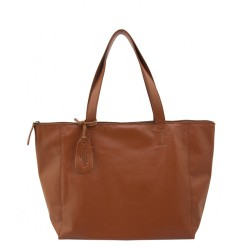THE TANNERY MNL,HANNAH, TAN MILLED (with Zipper), BROWN, 320501 image here