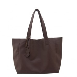 THE TANNERY MNL, HANNAH, CHOCOLATTO MILLED (with Zipper),BROWN, 320606 image here