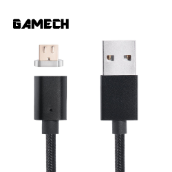 Gamech,Gamech 5th Gen Fast Magnetic Charger and Data Nylon Cable Micro-USB Android,black,MCDARARELBL15658184 image here