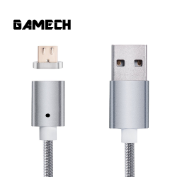 Gamech,Gamech 5th Gen Fast Magnetic Charger and Data Nylon Cable Micro-USB Android,silver,MADARARELSI15658177 image here