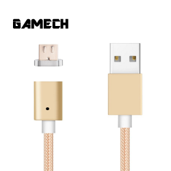 Gamech,Gamech 5th Gen Fast Magnetic Charger and Data Nylon Cable Micro-USB Android,gold,MCDARARELGO15658191 image here