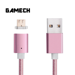 Gamech,Gamech 5th Gen Fast Magnetic Charger and Data Nylon Cable Micro-USB Android,pink,MCDARARELRO15658238233 image here