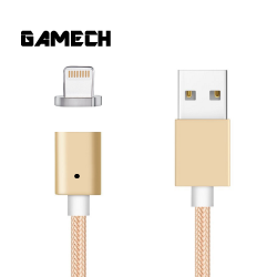 Gamech,Gamech 5th Gen Fast Magnetic Charger and Data Sync Nylon Cable for iOS,gold,MCDARARELGO15658177 image here