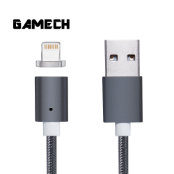 Gamech,Gamech 5th Gen Fast Magnetic Charger and Data Sync Nylon Cable for iOS,gray,MCDARARELGR15658207230 image here