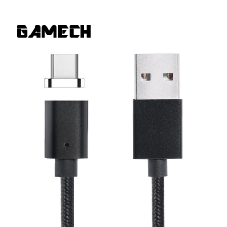 Gamech,Gamech 5th Gen Fast Magnetic Charger and Data Sync Nylon Cable for Type-C,black,MCDARARELBL15658245 image here