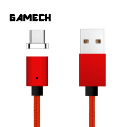 Gamech,Gamech 5th Gen Fast Magnetic Charger and Data Sync Nylon Cable for Type-C,red,MCDARARELRE15658269256 image here