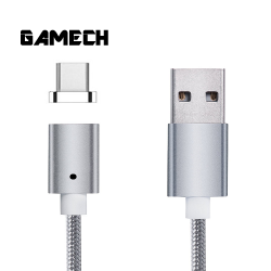 Gamech,Gamech 5th Gen Fast Magnetic Charger and Data Sync Nylon Cable for Type-C,silver,MADARARELSI15658191 image here