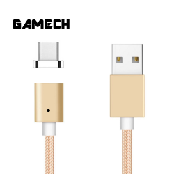 Gamech,Gamech 5th Gen Fast Magnetic Charger and Data Sync Nylon Cable for Type-C,gold ,MCDARARELGO15658252 image here
