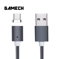 Gamech,Gamech 5th Gen Fast Magnetic Charger and Data Sync Nylon Cable for Type-C,gray,MCDARARELGR15658276 image here