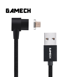 Gamech 6th Gen L-Shape Fast Magnetic Charger and Data Sync Nylon Cable Micro-USB image here