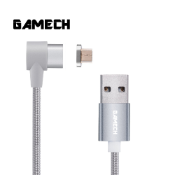 Gamech,Gamech 6th Gen L-Shape Fast Magnetic Charger and Data Sync Nylon Cable Micro-USB,silver,HXDARARELSI15658467456 image here