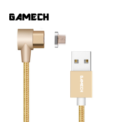 Gamech,Gamech 6th Gen L-Shape Fast Magnetic Charger and Data Sync Nylon Cable Micro-USB,gold,HXDARARELGO15658474457 image here