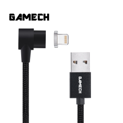 Gamech,Gamech 6th Gen L-Shape Fast Magnetic Charger and Data Sync Nylon Cable IOS,black,HXDARARELBL15658481458 image here