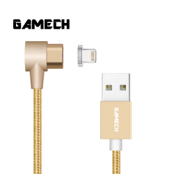 Gamech 6th Gen L-Shape Fast Magnetic Charger and Data Sync Nylon Cable IOS image here