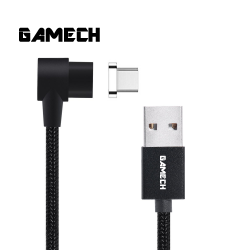 Gamech,Gamech 6th Gen L-Shape Fast Magnetic Charger and Data Sync Nylon Cable Type C,black,HXDARARELBL15658412461 image here