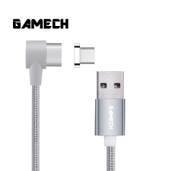 Gamech,Gamech 6th Gen L-Shape Fast Magnetic Charger and Data Sync Nylon Cable Type C,silver,HXDARARELSI15658429462 image here