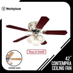 42 INCHES CEILING FAN CONTEMPRA TRIO REVERSIBLE BLADES 78615 image here