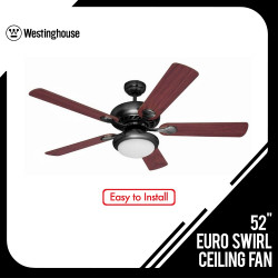 52 INCHES CEILING FAN EURO SWIRL 78569  image here
