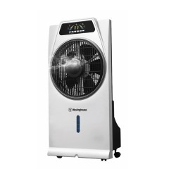 "MISTING FAN W/ REMOTE 16"" WHITE/BLACK image here"