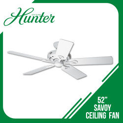 HUNTER CEILING FAN SAVOY 5-BLADE 52 WHITE image here