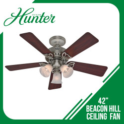 HUNTER CEILING FAN BEACON HILL 5-BLADE 42 BRUSHED NICKEL image here