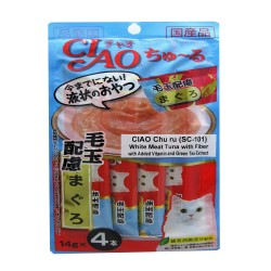 CIAO,CHU RU WHITE MEAT TUNA WITH FIBER 14G PACK (SC-101),584 image here