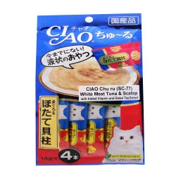 CIAO,CHU RU WHITE MEAT TUNA & SCALLOP 14G PACK (SC-77),586 image here