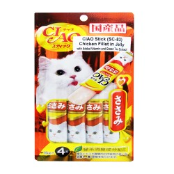 CIAO STICK CHICKEN FILLET IN JELLY 15G PACK (SC-83) image here