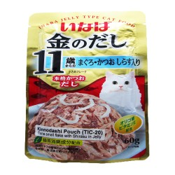 INABA,KINNODASHI POUCH - TUNA SMALL FLAKE WITH SHIRASU JELLY 60G (TIC-20),616 image here
