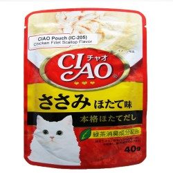 CIAO,POUCH CHICKEN FILLET SCALLOP FLAVOR 40G (IC-205),620 image here