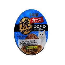 INABA TUNA IN GRAVY TOPPING CRAB STICK AND SLICED BONITO 80G (IMC-102) image here