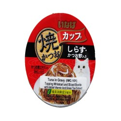 INABA TUNA IN GRAVY TOPPING WHITEBAIT AND SLICED BONITO 80G (IMC-101) image here