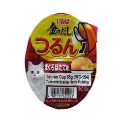 INABA TUNA WITH SCALLOP FLAVOR PUDDING TSURUN CUP 65G (IMC-154) image here